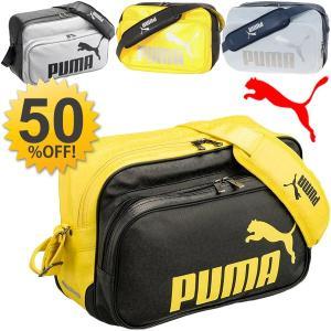 エナメルバッグ/プーマ PUMA /Mサイズ ショルダーバッグ/スポーツバッグ メンズ レディース/072404