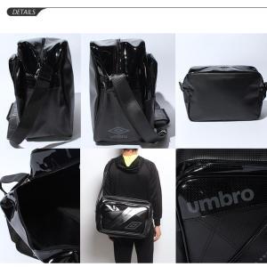 エナメルバッグ ショルダーバッグ Lサイズ メ...の詳細画像2