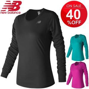 Tシャツ 長袖 レディース ニューバランス newbalance アクセレレイト ロングスリーブTシャツ ランニング マラソン 女性用 吸汗速乾/WT73132|apworld