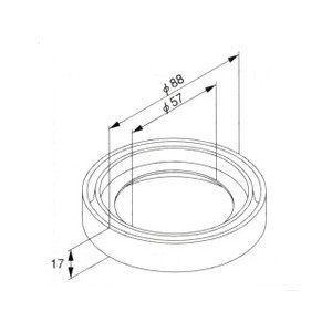 TOTO トイレまわり取り替えパーツ 91540E 密結パッキン|aq-planet
