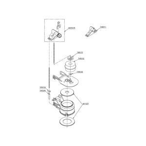 TOTO トイレまわり取り替えパーツ  HH08008Z 排水弁 ロータンク式大便器用排水弁部|aq-planet