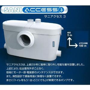 SFA 排水圧送粉砕ポンプ SAC3-100 サニアクセス3 SANIACCESS3 汚水・雑排水兼用ポンプ|aq-planet