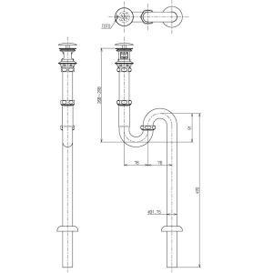 TOTO 排水金具 T6SM1 床排水用 32mm Sトラップ|aq-planet