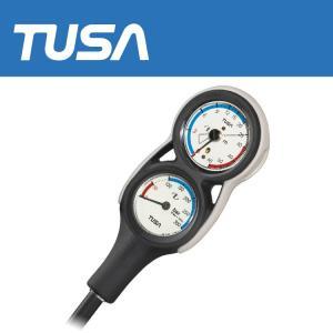 ゲージ TUSA/ツサ SCA280J 2連ゲージ 重器材 ダイビング 残圧計 水深計|aqrosnetshop