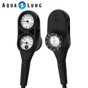 ゲージ AQUALUNG/アクアラング プレシス3ゲージ(残圧計+水深計+コンパス)[204050290000]|aqrosnetshop