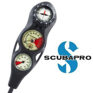 ダイビング 重器材 ゲージ SCUBAPRO スキューバプロ Sプロ 3ゲージ インラインコンソール|aqrosnetshop