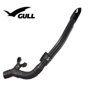 ダイビング用スノーケル GULL/ガル レイラドライSP ブラックシリコン GS-3164|aqrosnetshop