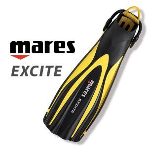 ダイビング フィン mares マレス エキサイト ストラップフィン 足ヒレ|aqrosnetshop