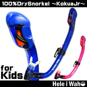 シュノーケリング用スノーケル(子供用)HeleiWaho/ヘレイワホ ドライスノーケルKokuaJr(コクアジュニア)[31268001]|aqrosnetshop