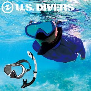 スノーケリングセット USダイバーズ スターバック3LX P / アイランドドライLX  マスク スノーケル セット|aqrosnetshop