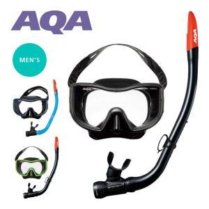 スノーケリングセット AQA メビウスライト&サミーVライトII 2点セット メンズ KZ-9071N|aqrosnetshop