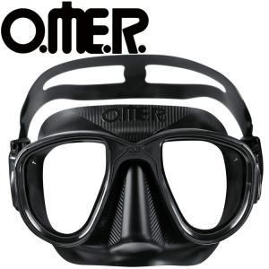 フリーダイビング マスク O.ME.R オマー エイリアン ブラック スキンダイビング 軽器材|aqrosnetshop