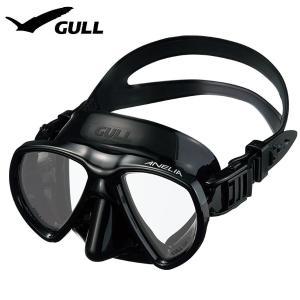 ダイビングマスク GULL/ガル アネリア ブラックシリコン GM-1049|aqrosnetshop