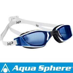 Aqua Sphere/アクアスフィア エクシード ブルーレンズ ホワイト/ブラック[381050050000]|aqrosnetshop