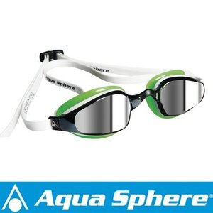 Aqua Sphere/アクアスフィア K180 ミラーレンズ ホワイト/グリーン[381050128300]|aqrosnetshop