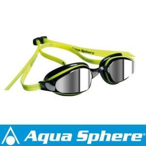 Aqua Sphere/アクアスフィア K180 ミラーレンズ イエロー/ブラック[381050128700]|aqrosnetshop