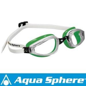Aqua Sphere/アクアスフィア K180 クリアレンズ ホワイト/グリーン[381050138300]|aqrosnetshop