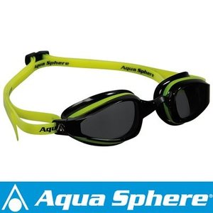 Aqua Sphere/アクアスフィア K180 ダークレンズ イエロー/ブラック[381050148700]|aqrosnetshop