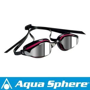 Aqua Sphere/アクアスフィア K180 ミラーレンズ レディ ピンク/ブラック[381050156600]|aqrosnetshop