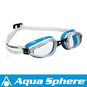 Aqua Sphere/アクアスフィア K180 クリアレンズ レディ ホワイト/ライトブルー[381050164500]|aqrosnetshop