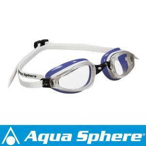 Aqua Sphere/アクアスフィア K180 クリアレンズ レディ ホワイト/ラベンダー[381050166900]|aqrosnetshop