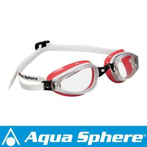Aqua Sphere/アクアスフィア K180 クリアレンズ レディ ホワイト/レッド[381050167200]|aqrosnetshop