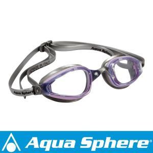 Aqua Sphere/アクアスフィア K180 クリアレンズ レディ ライトピンク/シルバー[381050167700]|aqrosnetshop
