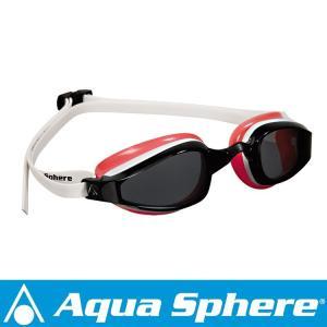 Aqua Sphere/アクアスフィア K180 ダークレンズ レディ ホワイト/レッド[381050177200] aqrosnetshop