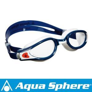 Aqua Sphere/アクアスフィア ケイマンエグゾー クリアレンズ マッドブルー/ホワイト S[381050211300]|aqrosnetshop