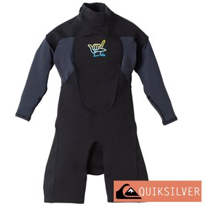 QUIKSILVER クイックシルバー ウェットスーツ キッズ ジュニア スプリング 1mm ウエットスーツ 子供 BOY 1.0 WATERSUIT BZ LS SPRING KWT202901|aqrosnetshop