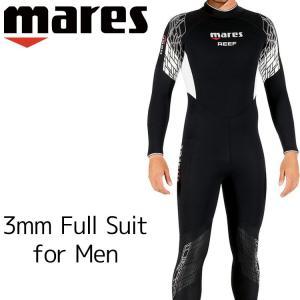 ウェットスーツ 3mm メンズ mares マレス リーフ ダイビング ウエットスーツ|aqrosnetshop