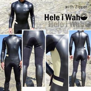 ウェットスーツ 3mm メンズ HeleiWaho/ヘレイワホ ウエットスーツ スキン ファスナー付き[50263001]|aqrosnetshop|03