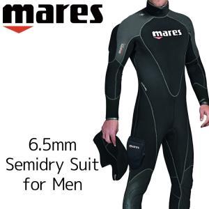 ウェットスーツ セミドライメンズ mares マレス フレクサ サーモ ダイビング ウエットスーツ 6.5mm|aqrosnetshop