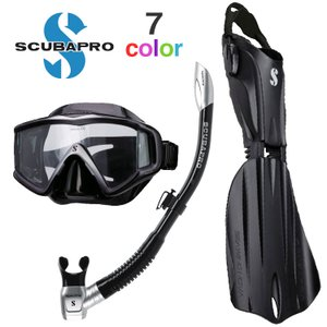 スキューバプロ ダイビング マスク フィン シュノーケル スキューバダイビング 軽器材 セット Sプ...