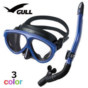 ダイビング マスク シュノーケル セット 軽器材 2点セット GULL マンティス 5 カナールドラ...