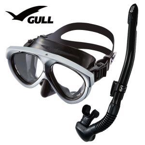 ダイビング マスク シュノーケル セット 軽器材 2点セット GULL マンティス 5 カナールステ...