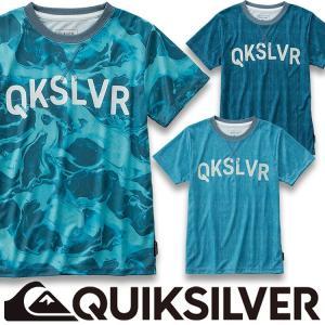 QUIKSILVER クイックシルバー ラッシュガード Tシャツ キッズ ジュニア 半袖 子供用 MW LIFE SS KIDS KLY181104|aqrosnetshop