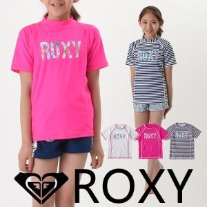 ROXY ロキシー ラッシュガード キッズ ジュニア 半袖 子供用 MINI HOLIDAY LOGO S/S TLY181106|aqrosnetshop