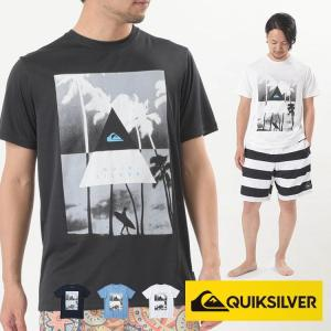 QUIKSILVER ラッシュガード Tシャツ メンズ 半袖 LONELY SURFER SS QLY191009  クイックシルバー|aqrosnetshop