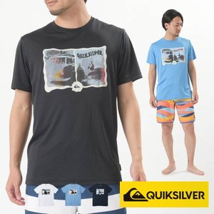 QUIKSILVER ラッシュガード Tシャツ メンズ 半袖 MORNING SESSION SS QLY191056 クイックシルバー|aqrosnetshop