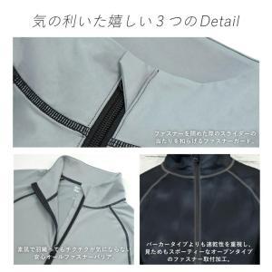 ラッシュガード メンズ HeleiWaho ヘレイワホ 長袖 ジップアップ フードなし UPF50+ で UVカット 大きいサイズ で 体型カバー aqrosnetshop 15