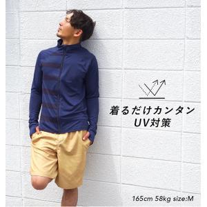 ラッシュガード メンズ HeleiWaho ヘレイワホ 長袖 ジップアップ フードなし UPF50+ で UVカット 大きいサイズ で 体型カバー aqrosnetshop 05