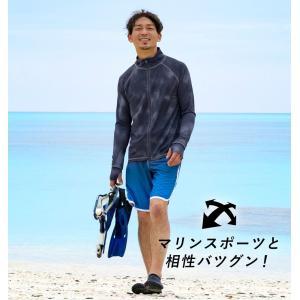 ラッシュガード メンズ HeleiWaho ヘレイワホ 長袖 ジップアップ フードなし UPF50+ で UVカット 大きいサイズ で 体型カバー aqrosnetshop 07