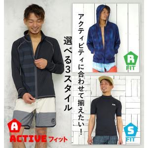 ラッシュガード メンズ HeleiWaho ヘレイワホ 長袖 ジップアップ フードなし UPF50+ で UVカット 大きいサイズ で 体型カバー aqrosnetshop 09