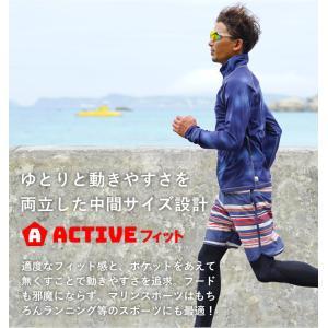 ラッシュガード メンズ HeleiWaho ヘレイワホ 長袖 ジップアップ フードなし UPF50+ で UVカット 大きいサイズ で 体型カバー aqrosnetshop 10