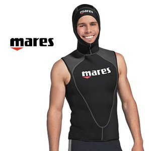 ウェットスーツ メンズ mares フレクサ フードベスト 3mm ダイビング ウエットスーツ|aqrosnetshop