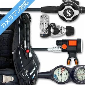 ダイビング 重器材 セット BCD レギュレーター オクトパス ゲージ 重器材セット 4点 【Classic-s600-Hair2-Tst2】|aqrosnetshop