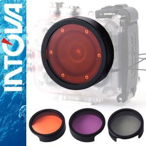 防水 デジタルムービーカメラ  INTOVA X2/HD2専用 レンズフィルター|aqrosnetshop