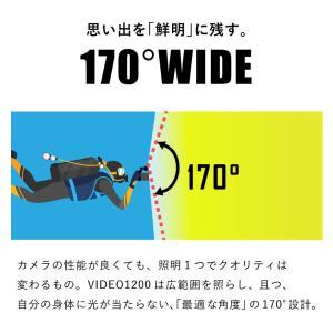 【水中ライト】LYCAN/ライキャン VIDEO1200|aqrosnetshop|06