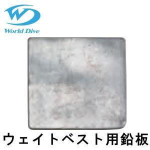 World Dive / ワールドダイブ ウエイトベスト用鉛板1枚 500g|aqrosnetshop